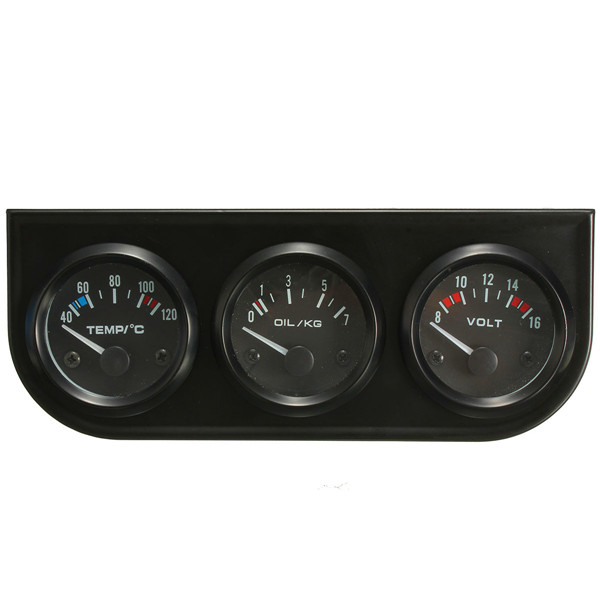 Electronic Voltmeter Gauges Oil And Water : Inch mm electronic gauge kit water temp oil pressure