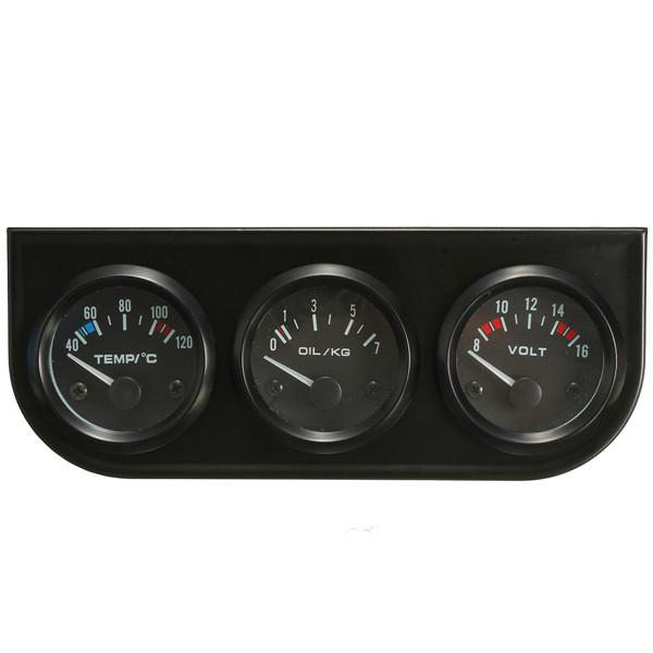 2/'/' 52MM POINTER LED CAR WATER OIL TEMP PRESSURE VOLT AMMETER AMPS METER GAUGE !