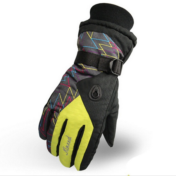 Women Warm Waterproof Ski Gloves Beam Cuff Ski Gloves Waterproof Motorcycle Gloves