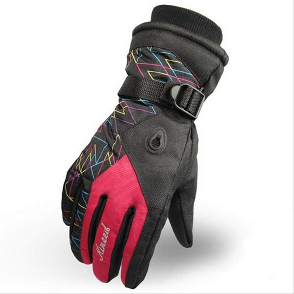 Women Warm Waterproof Ski Gloves Beam Cuff Ski Gloves Waterproof Motorcycle Gloves