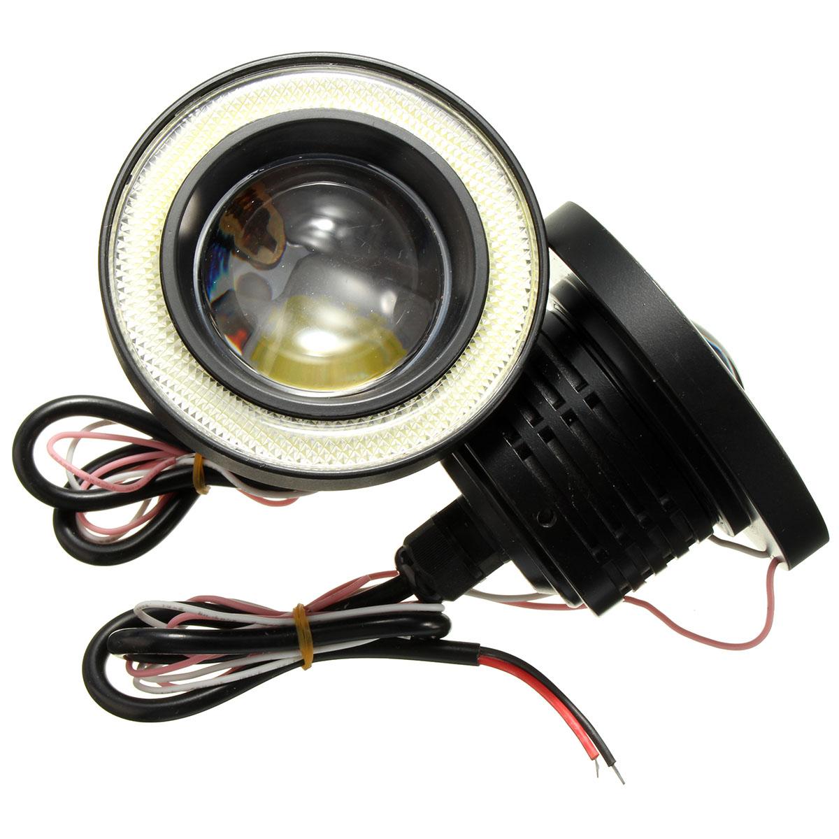 2pcs 3 5 inch led fog light projector angel eyes super. Black Bedroom Furniture Sets. Home Design Ideas