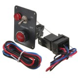 12V Racing Car Ignition Switch Kit Carbon Panel Toggle Engine Start Push Button