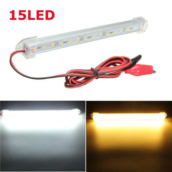Yellow Led Strip Light: 12V 20cm 15LED SMD 5630 LED Strip Light Hard Tube Bar Cool