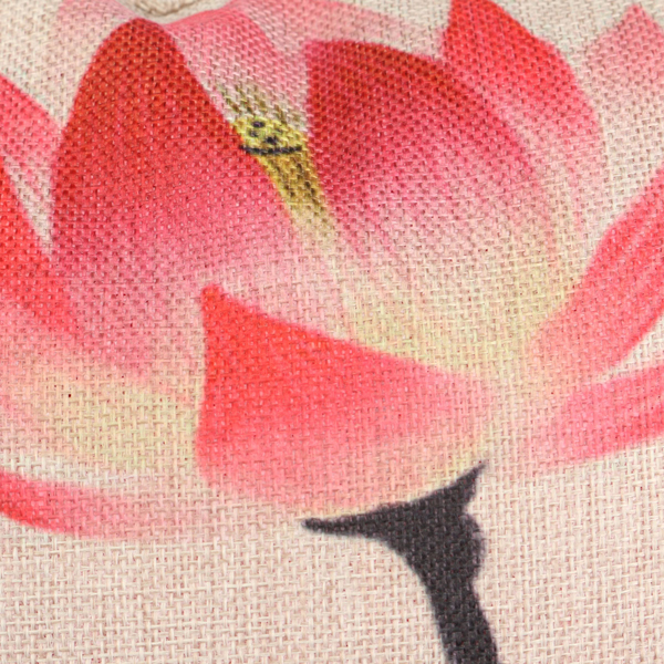 Chinese Ink Lotus Series Throw Pillow Case Cotton Linen Cushion Cover Home Sofa Decor