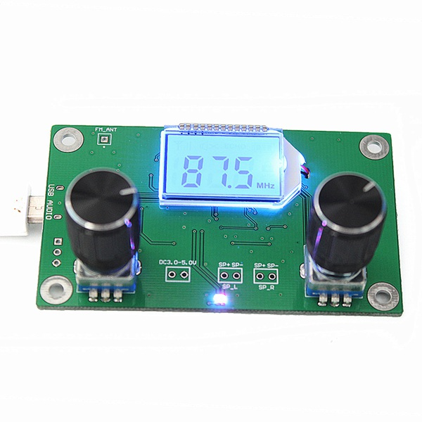 DSP & PLL Digital Stereo FM Radio Receiver Module 87-108MHz With Serial Control