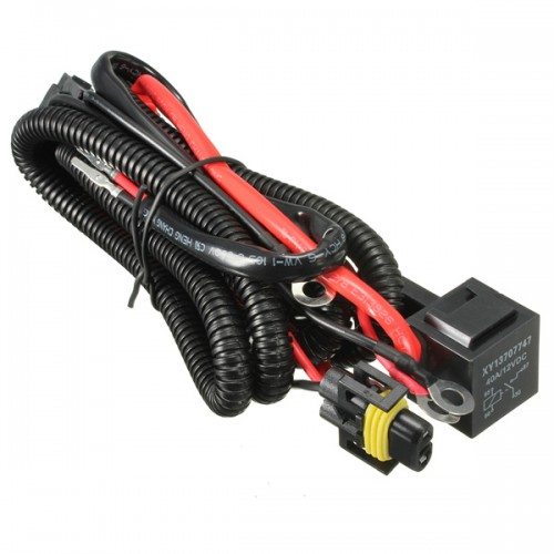 H relay wiring harness xenon hid conversion kit add