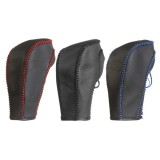 Black Genuine Leather Gear Shift Knob Cover for Chevrolet Cruze Captiva 2013 2012 2011