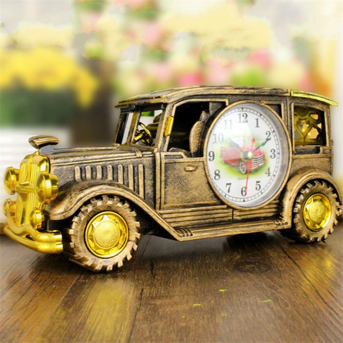 Simulation Vintage Car Alarm Clock Multifunctional Pencil ...
