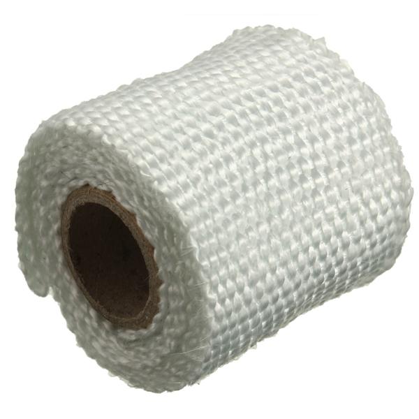 Exhaust Heat Wrap >> 1m 2inch Virgin Glass Fiber Exhaust Pipe Insulation Heat Wrap Tape | Alexnld.com