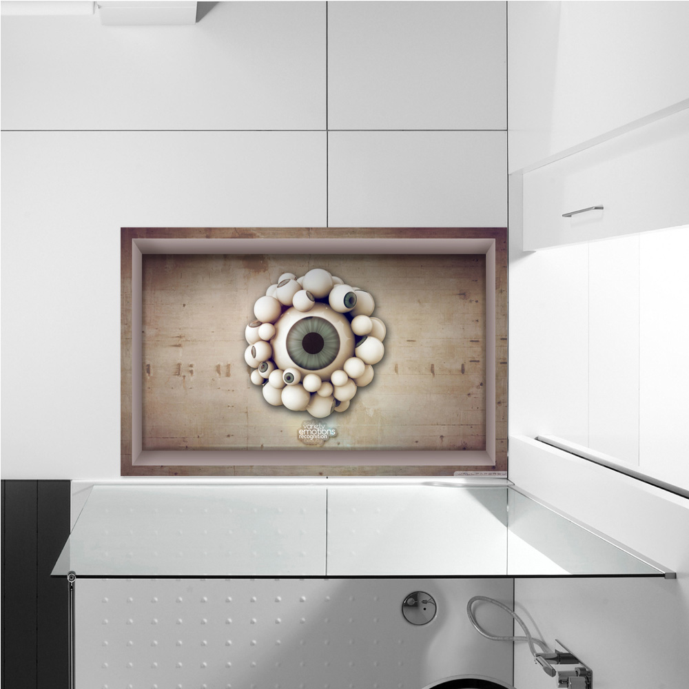 Pag 3d bathroom anti slip eyeball pattern floor sticker for 3d bathroom decor