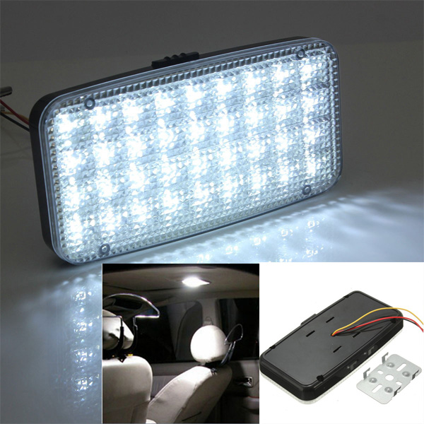 12v 36 led car auto van vehicle ceiling dome roof interior light white lamp dc alex nld. Black Bedroom Furniture Sets. Home Design Ideas