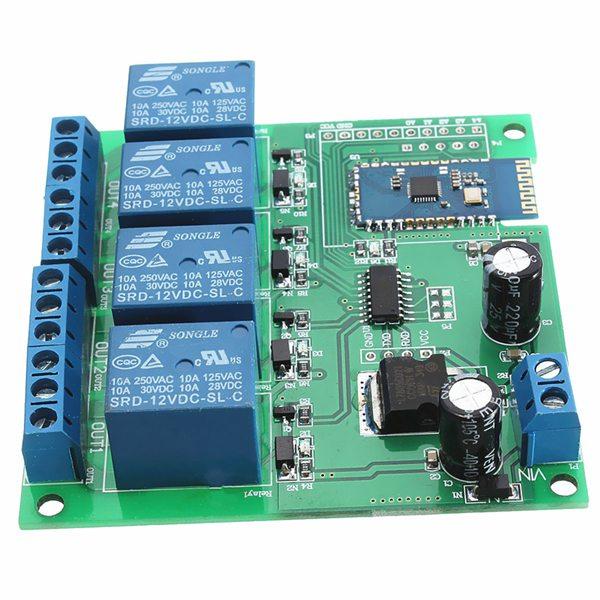 12V 4 Channel Road Bluetooth Control Relay Module