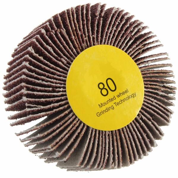 60 80 Grit 6mm Shank Flap Wheel Disc Sanding Abrasive