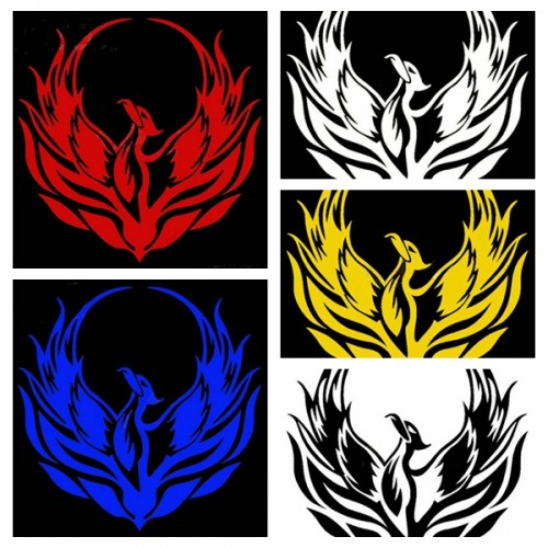 Phoenix Totem Stickers Decals Reflective Tape For Motorcycle Car