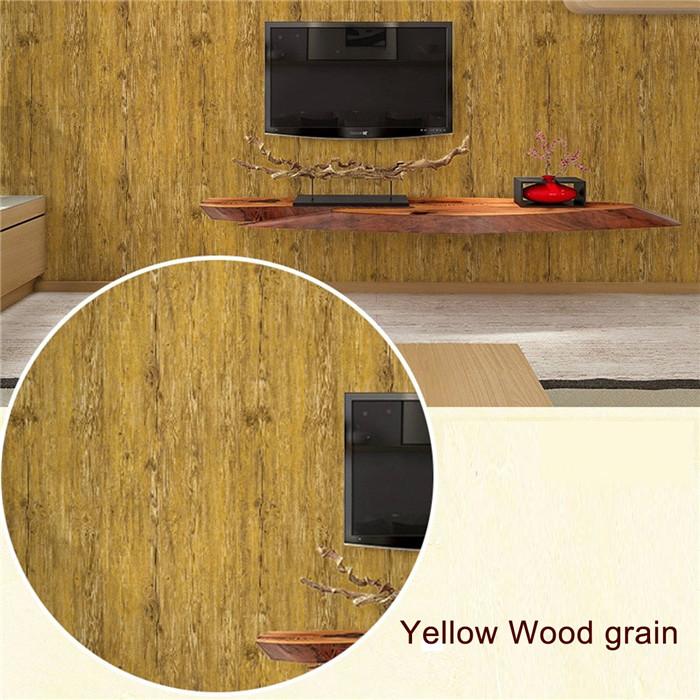 5 Colors 10m Wood Grain Roll Wallpaper Home Living Room Wall TV ...