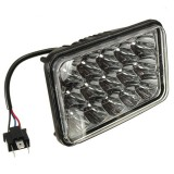 45W 15LED Work Light Lamp Flood Beam for Jeep Tractor Truck Lorry 12V 24V HI LO Beam