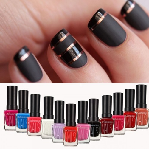 DANCINGNAIL 12ml 12 Colors Matte Dull Nail Art Polish Enamel Frosted Varnish