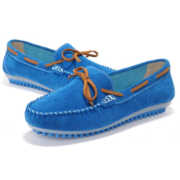 Women Casual Flat Shoes Lace Up Round Toe Flats Soft Sole Flat Loafers