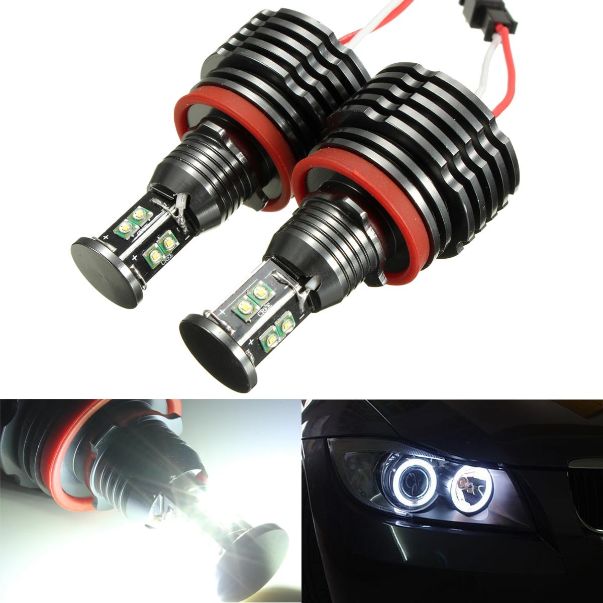 80w Led Angel Eyes Halo Light H8 Bulb Error Free For Bmw E92 E93 E63 E70 X5