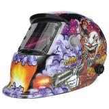 Clown With Submachine Gun Solar Welder Mask Helmet Electrowelding Auto Darkening Welding TIG MIG Welder Mask