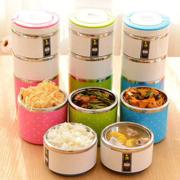 Stainless Steel Insulation Lunch Box Colorful Food