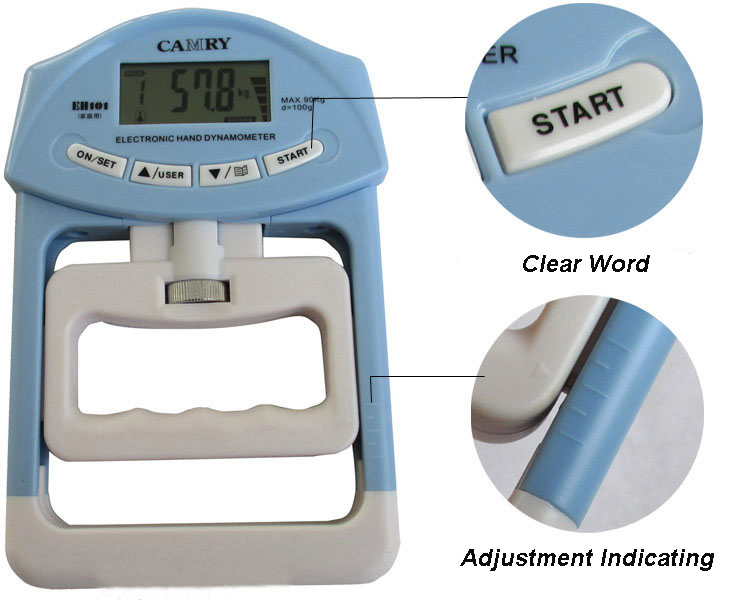 Hand Held Dynamometer For Muscle Strength : Electronic dynamometer hand held grip reader strength