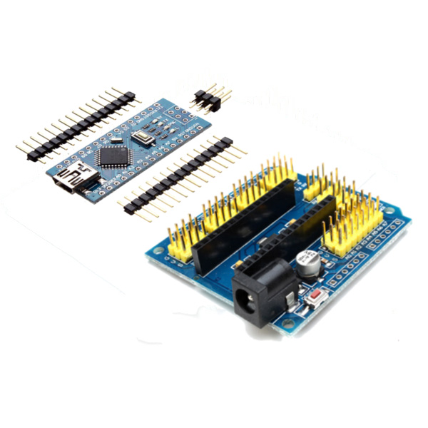 Uno expansion board atmega p nano v improved version