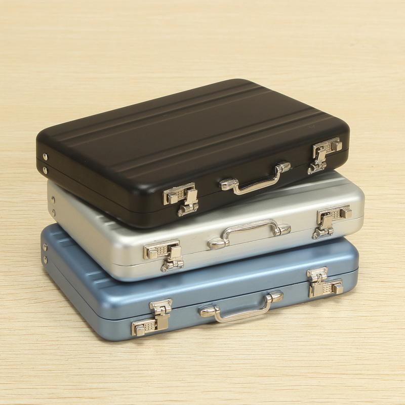 Aluminum Business Credit Cards Box Mini Suitcase Card Holder High ...