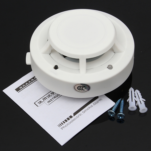wireless smoke detector home security fire alarm photoelectric sensor system alex nld. Black Bedroom Furniture Sets. Home Design Ideas