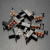 10Pcs Black Mini Size SPDT Slide Switches On-Off 100V 2A DIY Material