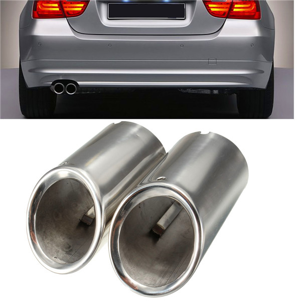 Bmw Performance Exhaust 335i: 2Pcs Muffler Exhaust Tail Pipe Tip Chrome For BMW E90 E92