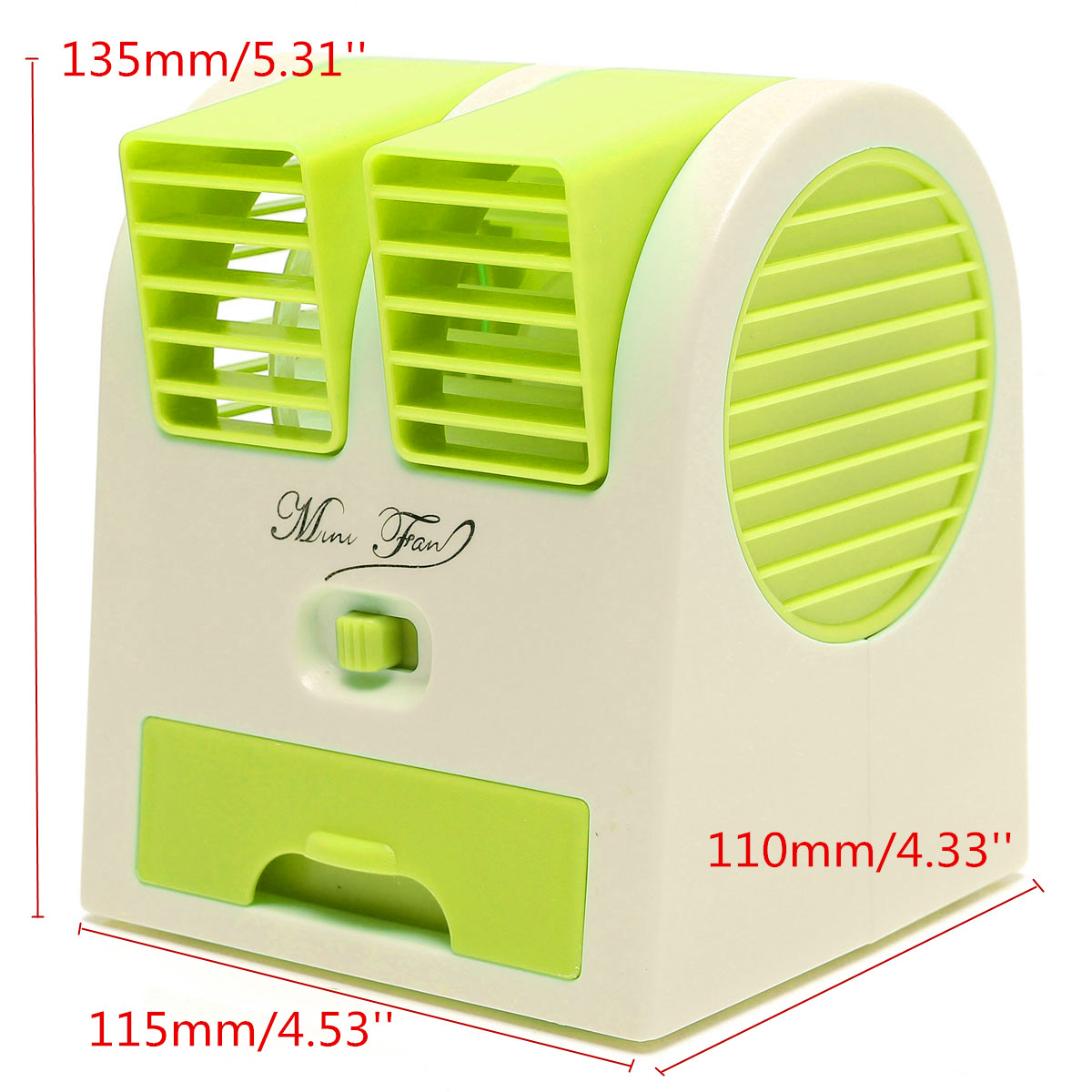 Fan Cooling Portable Desktop Notebook Dual Bladeless Air Conditioner #496701