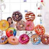 40cm Colourful Creative 3D Plush Donut Throw Pillow Sofa Car Office Cushion Valentines Gift