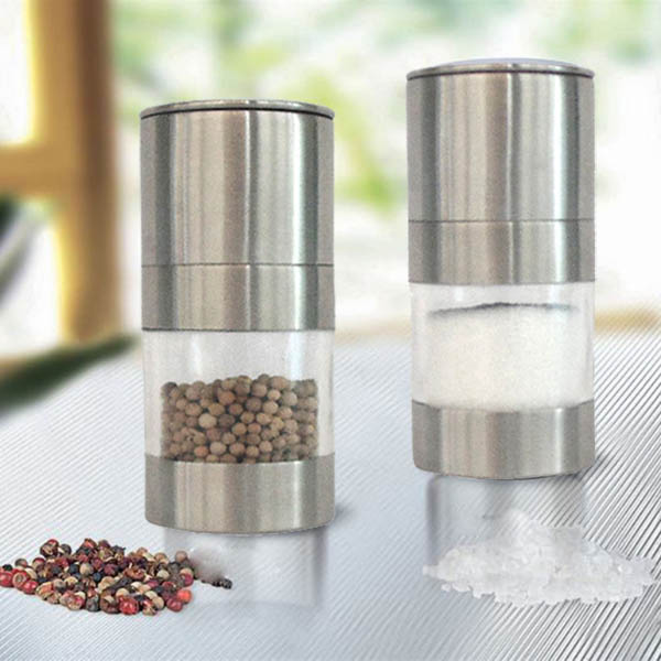 Stainless Steel Manual Pepper Salt Mill Grinder Spice Kitchen Mill Muller