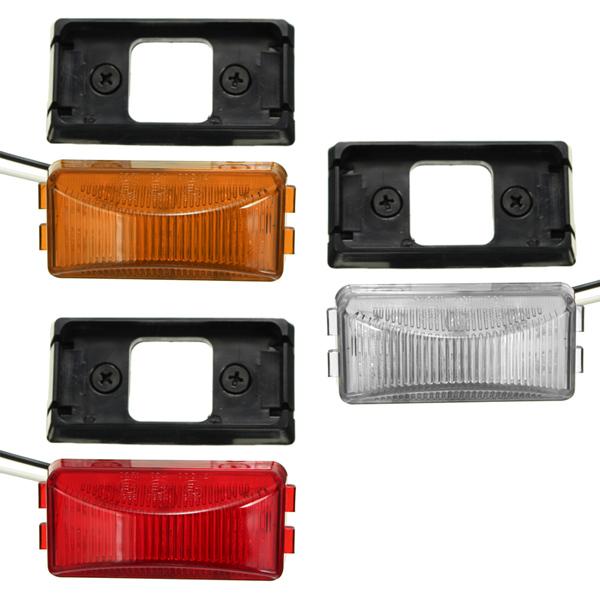 6 LED Side Marker Light Indicator Lamp Bus Truck Trailer Lorry Caravan 12/24V E4