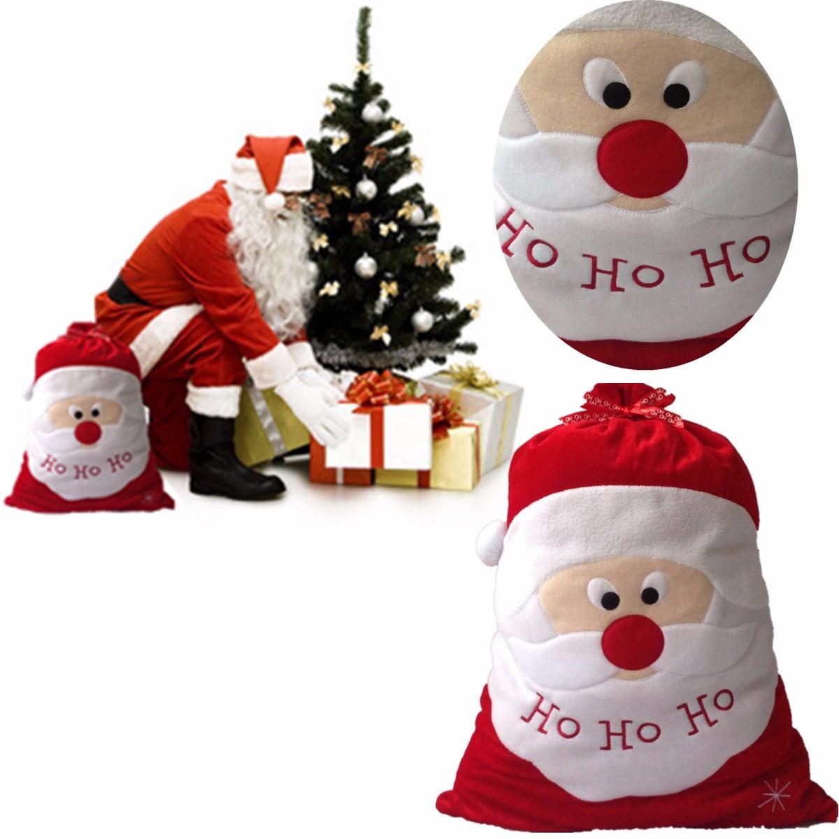 Large Christams Xmas Santa Clau Gift Candy Stocking Bag Alexnld Com