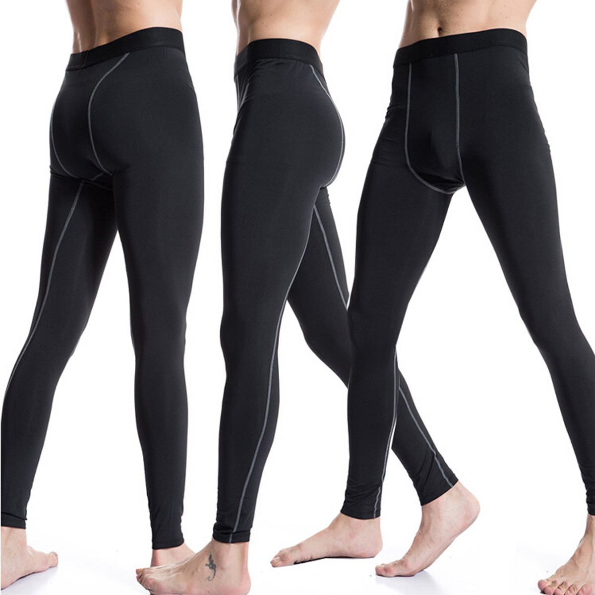 men sports pants base layers tights compression long pants