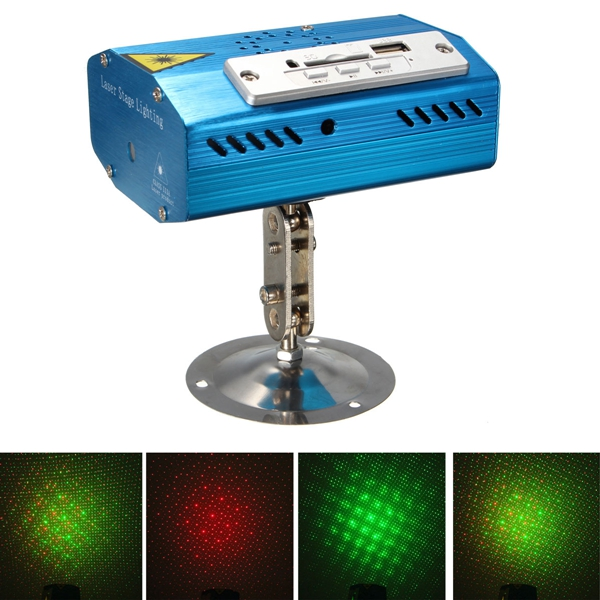 Mini R&G Laser Light SD USB Projector Disco Stage Xmas Dancing Party DJ Club Pub