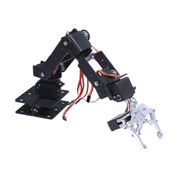 DIY 6 DOF 3D Rotating Mechanical Robot Arm Kit For Smart Car