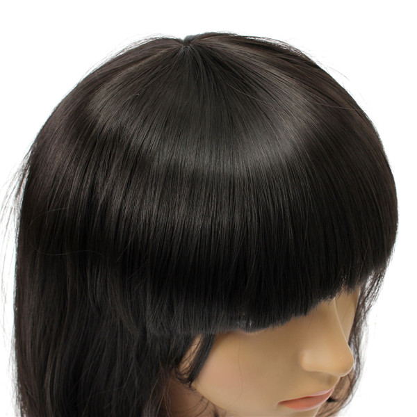 Short Wavy Curly Bangs Wig Hair Costume Cosplay Synthetic