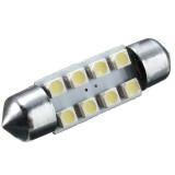 36mm 8 SMD White DC12V LED Festoon Dome Light Door Interior Lamp Bulbs C5W