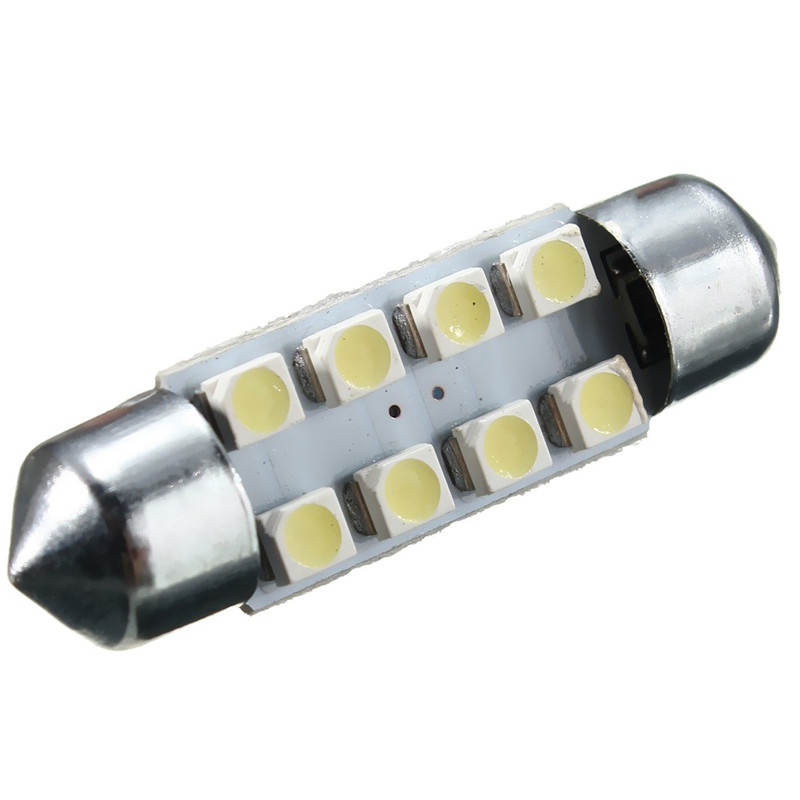 36mm 8 SMD White DC12V LED Festoon Dome Light Door Interior Lamp Bulbs C5W