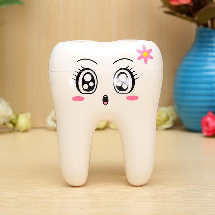 4 Holes Smily Face Toothbrush Holder Rack Cartoon Design ...