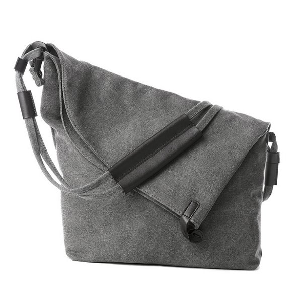 deb991eaaa8f Women Canvas Bags Casual Black Buttom Shoulder Bags Crossbody Bags