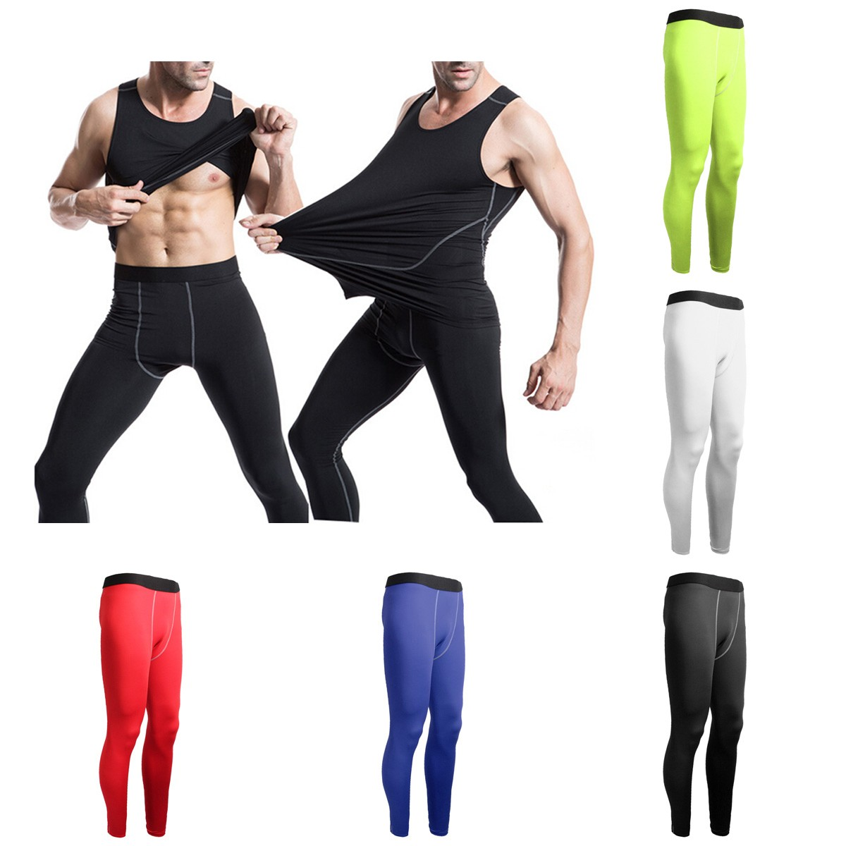 931641bdd5624 Men Sports Pants Base Layers Tights Compression Long Pants For Training  Fitness · eddafee0-9e40-4583-b478-6107d624da21.jpg ...