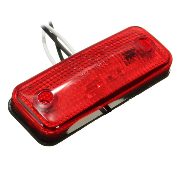 4 LED Side Marker Light Indicator Lamp for Bus Truck Trailer Lorry Caravan 12~24V E8