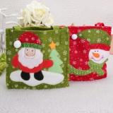 Christmas Snowman Santa Clau Candy Gift Hand Bag
