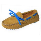 Children Toddler Boys Kids Girls Simple Faux Leather PU Casual Flat Candy Colors Soft Peas Loafer Lace Shoes