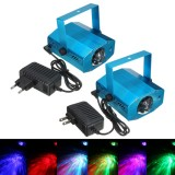 3W RGB LED Laser Projector Voice-activated Remote Stage Lighting for Club DJ Party Disco