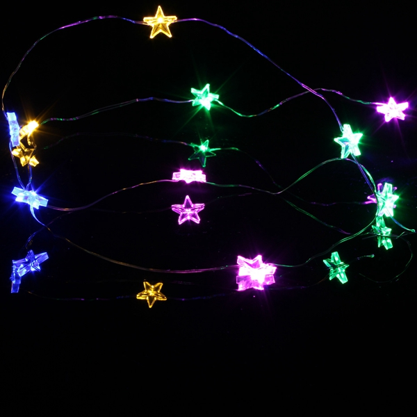 2M 20 LED Battery Powered Star String Fairy Light For Christmas Party Weddinng Decor Alex NLD